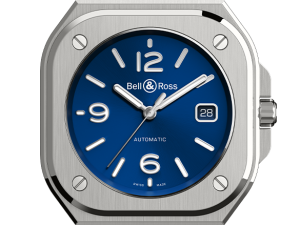 Bell & Ross BR05-auto-blue-rubber